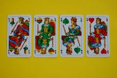 Bawarscy karcianej gry Schafskopf królewiątka Fotografia Royalty Free