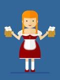 Bawarska kelnerka Zdjęcia Stock