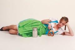 Bawarska suknia obraz royalty free