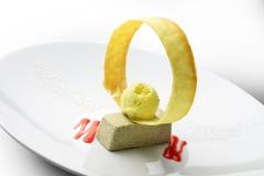 Bawarski deser z oliwkami 2 i lody Zdjęcia Stock