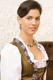Bawarski dziewczyna kostium w wakacje obraz royalty free