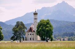 Bawarski krajobraz, Niemcy, Monachium, jesień czas wokoło Oktoberf zdjęcie stock