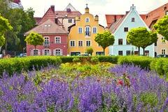 Bawarski miasteczko na wiośnie Zdjęcia Royalty Free