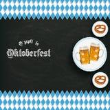 Bawarski obywatel Barwi Blackboard Centre piwa precla Zdjęcie Stock