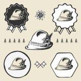 Bawarskiego wysokogórskiego oktoberfest rocznika tyrolean styl ilustracji