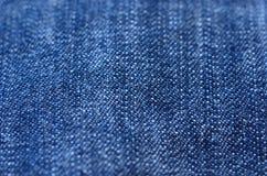 bawełniana drelichowa szczegółu tkaniny cajgów tekstura obrazy royalty free