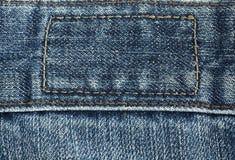 bawełniana drelichowa szczegółu tkaniny cajgów tekstura Zdjęcia Royalty Free
