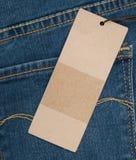 bawełniana drelichowa szczegółu tkaniny cajgów tekstura Zdjęcia Stock