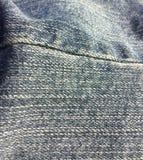 bawełniana drelichowa szczegółu tkaniny cajgów tekstura fotografia stock