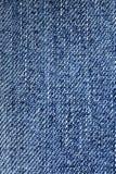 bawełniana drelichowa szczegółu tkaniny cajgów tekstura Obraz Royalty Free