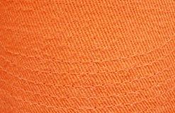 bawełniana pomarańczowa tekstura Obrazy Royalty Free