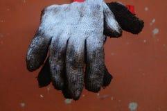 Bawełniana rękawiczka, już brudna, wiesza Obraz Stock