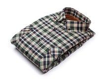 bawełniana szkockiej kraty koszula Obraz Royalty Free