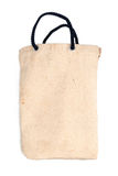Bawełniana torba na białym tle z cieniem Zdjęcie Royalty Free