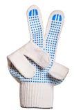 Bawełniane rękawiczki, ślizganie pokazują zwycięstwo Zdjęcie Royalty Free