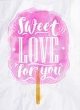 Bawełnianego cukierku słodka miłość ilustracja wektor