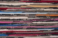 bawełnianej tkaniny ręka wyplatająca Zdjęcia Royalty Free