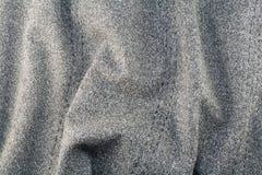 bawełnianej tkaniny szara szorstka tekstura Obrazy Stock