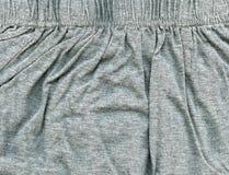Bawełnianej tkaniny tekstura - szarość Fotografia Royalty Free
