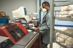 Bawełniani Klasyfikacyjni laboratoria zdjęcie stock