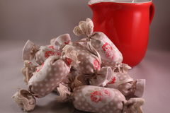 Bawełniany cukierek dla Wewnętrznej dekoraci Fotografia Stock