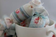 Bawełniany cukierek dla Wewnętrznej dekoraci w filiżance Zdjęcie Stock