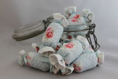 Bawełniany cukierek dla Wewnętrznej dekoraci w słoju szkle Zdjęcie Royalty Free