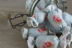 Bawełniany cukierek dla Wewnętrznej dekoraci w słoju szkle Zdjęcie Stock