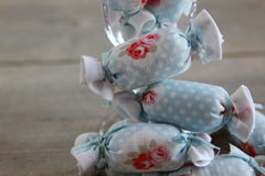 Bawełniany cukierek dla Wewnętrznej dekoraci w wina szkle Obraz Stock