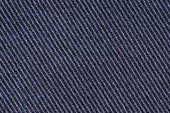 Bawełniany drelichowy cajg tkaniny tekstury tło, zamyka up Fotografia Royalty Free