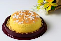 Bawełniany Miękki Cheesecake Zdjęcia Stock