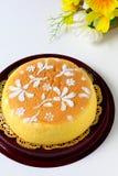 Bawełniany Miękki Cheesecake Fotografia Royalty Free