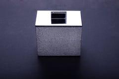 Bawełnianych pączków metalu swarovsky pudełko Fotografia Stock