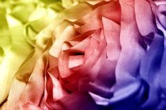 Bawełniana tkanina makro- Zdjęcie Stock