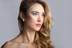 Bawełnianego cukierku Makeup Obraz Stock