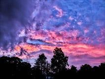 Bawełnianego cukierku niebo Obrazy Stock