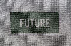 Bawełny deseniowa tekstura Zdjęcia Royalty Free