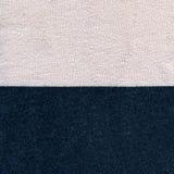 Bawełnianej tkaniny tekstura - Pastelowe menchie & marynarki wojennej błękit Fotografia Stock