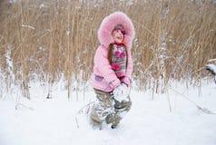 bawić się śnieg Obraz Royalty Free