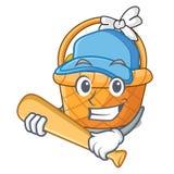 Bawić się baseballa Easter koszykową piłkę w kreskówce kształtuje ilustracji