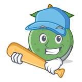 Bawić się baseballa guava charakteru kreskówki styl Zdjęcie Stock