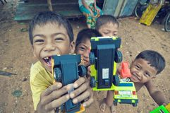 bawić się biedę kambodżański dzieciak Zdjęcia Royalty Free