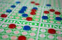 Bawić się bingo kart grę Fotografia Stock