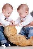 bawić się bliźniaków obraz stock