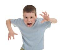 Bawić się chłopiec na bielu fotografia royalty free
