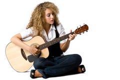 Bawić się Gitarę zdjęcie royalty free