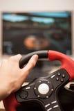Bawić się gry komputerowe z komputerowym wheele Fotografia Royalty Free