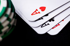 bawić się grzebaka kart układ scalony Zdjęcia Stock