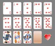 bawić się kostium karty serce ilustracji