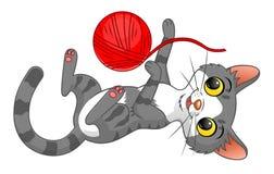 Bawić się kota ilustracja wektor